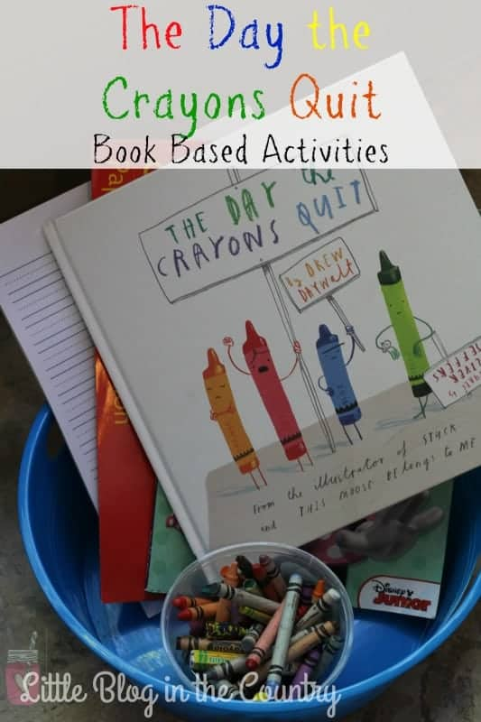 The day the crayons quit unit study