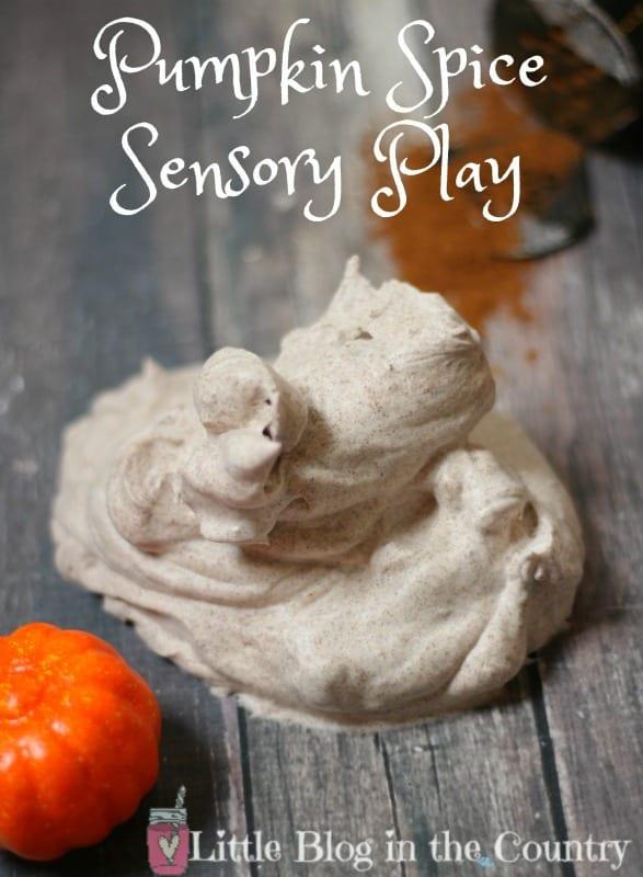 pumpkin spice sensory play