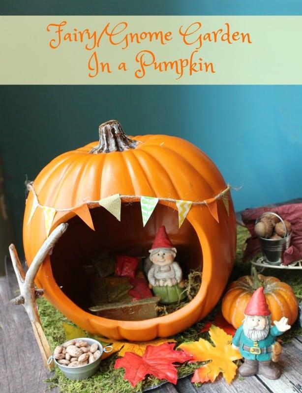 Fairy Garden Pumpkin