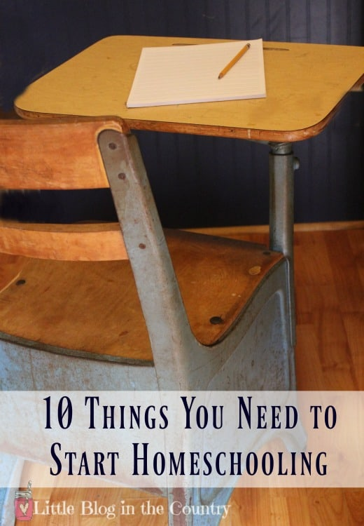 Things you need to start homeschooling