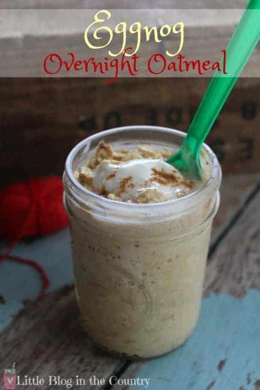 eggnog overnight oatmeal