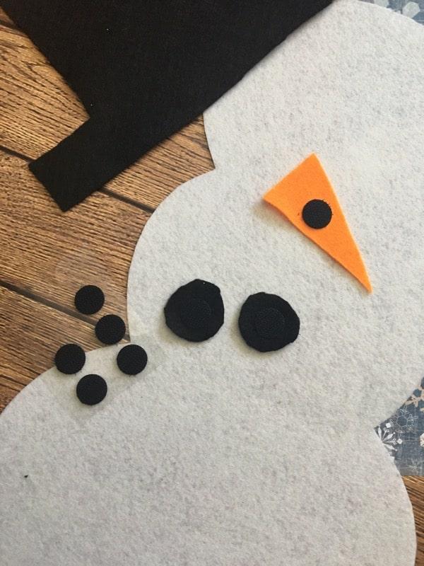 felt snowman craft