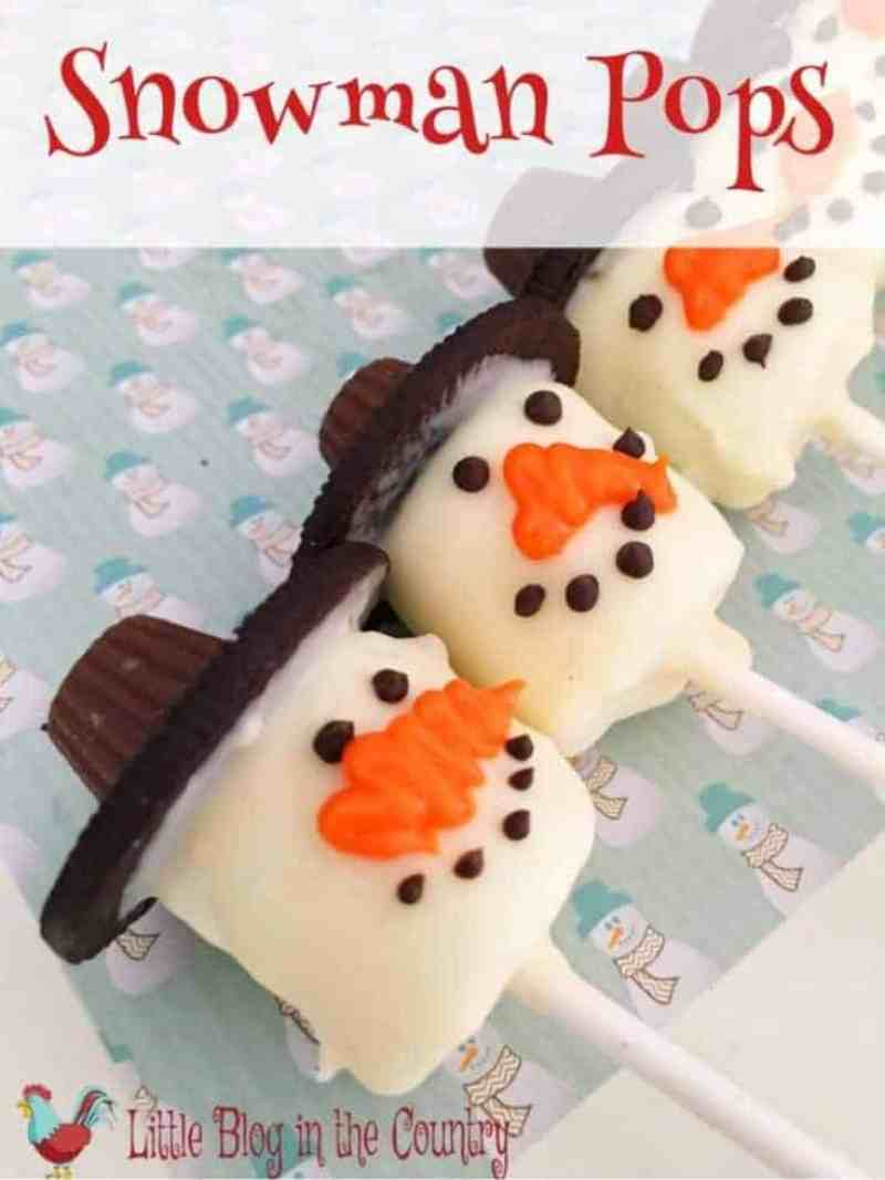 How to make snowman pops