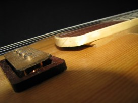 Rosewood trimmed pickup detail