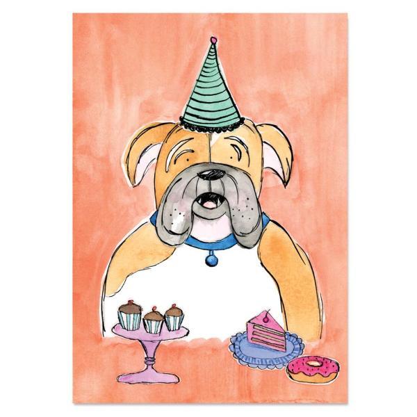 EM Art Print - Mr Jowls the Bulldog