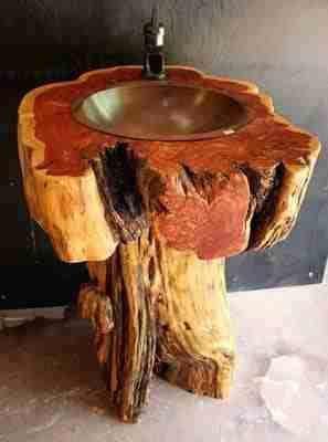 Log Vanity Rustic Bathroom Vanities Live Edge Logs