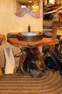 Live edge wood vanity