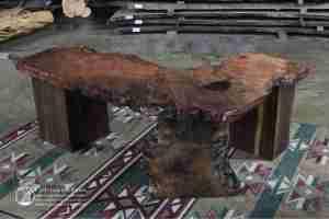 Redwood rustic executive desk