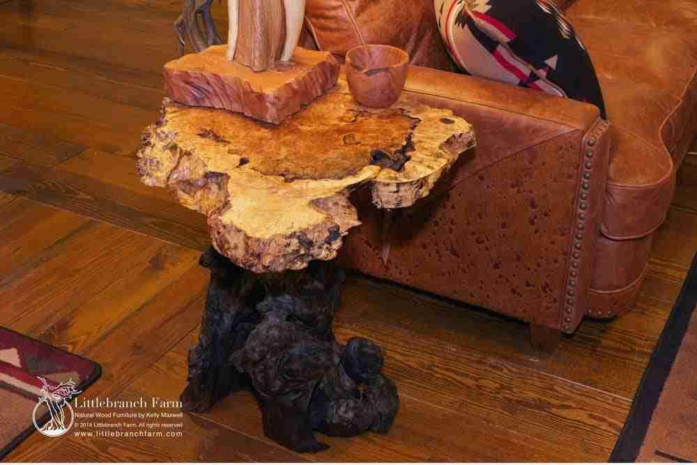 Burl wood furniture