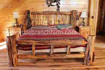 Rustic log furniture