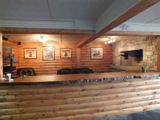 natural wood counter