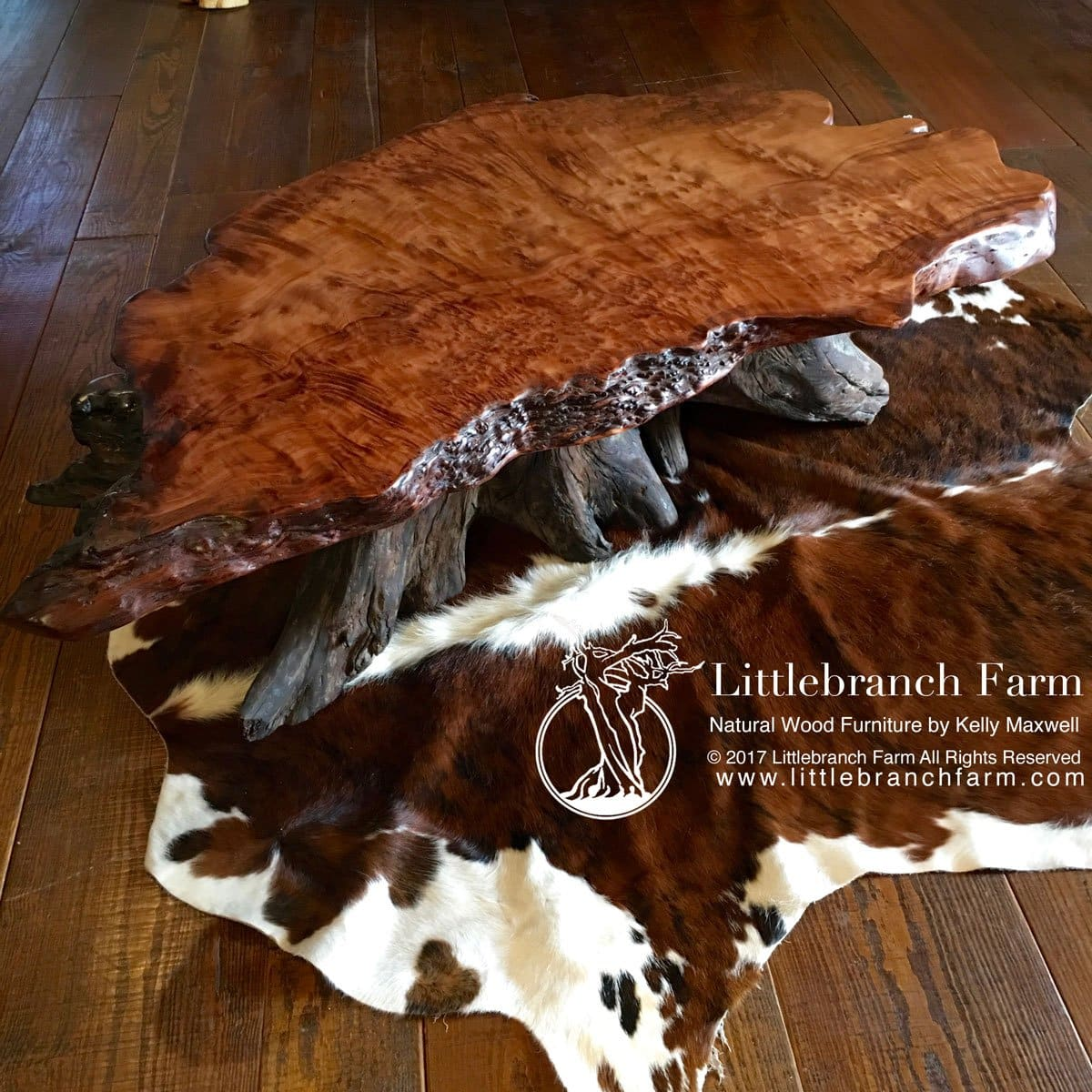 Redwood burl rustic furniture