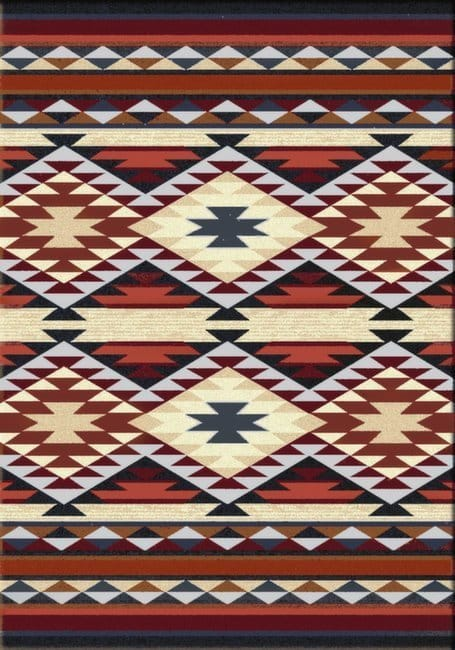 Diamond Rio - Rust | Southwestern Rugs by American Dakota
