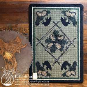Black bear rugs
