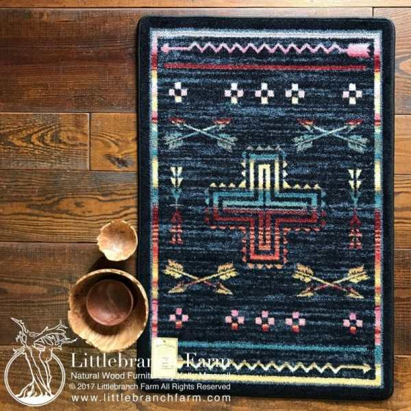 Blue southwest rug