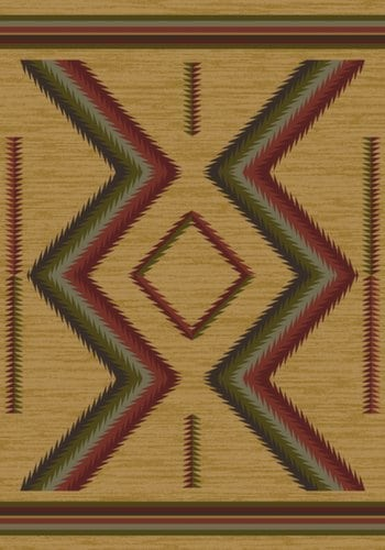 American Dakota Rugs - hour glass - fall 5x8