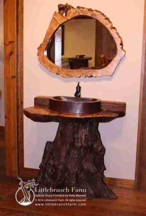 Tree log vanity