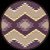 Plum Heritage southwest round rug