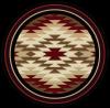 western round rug starburst