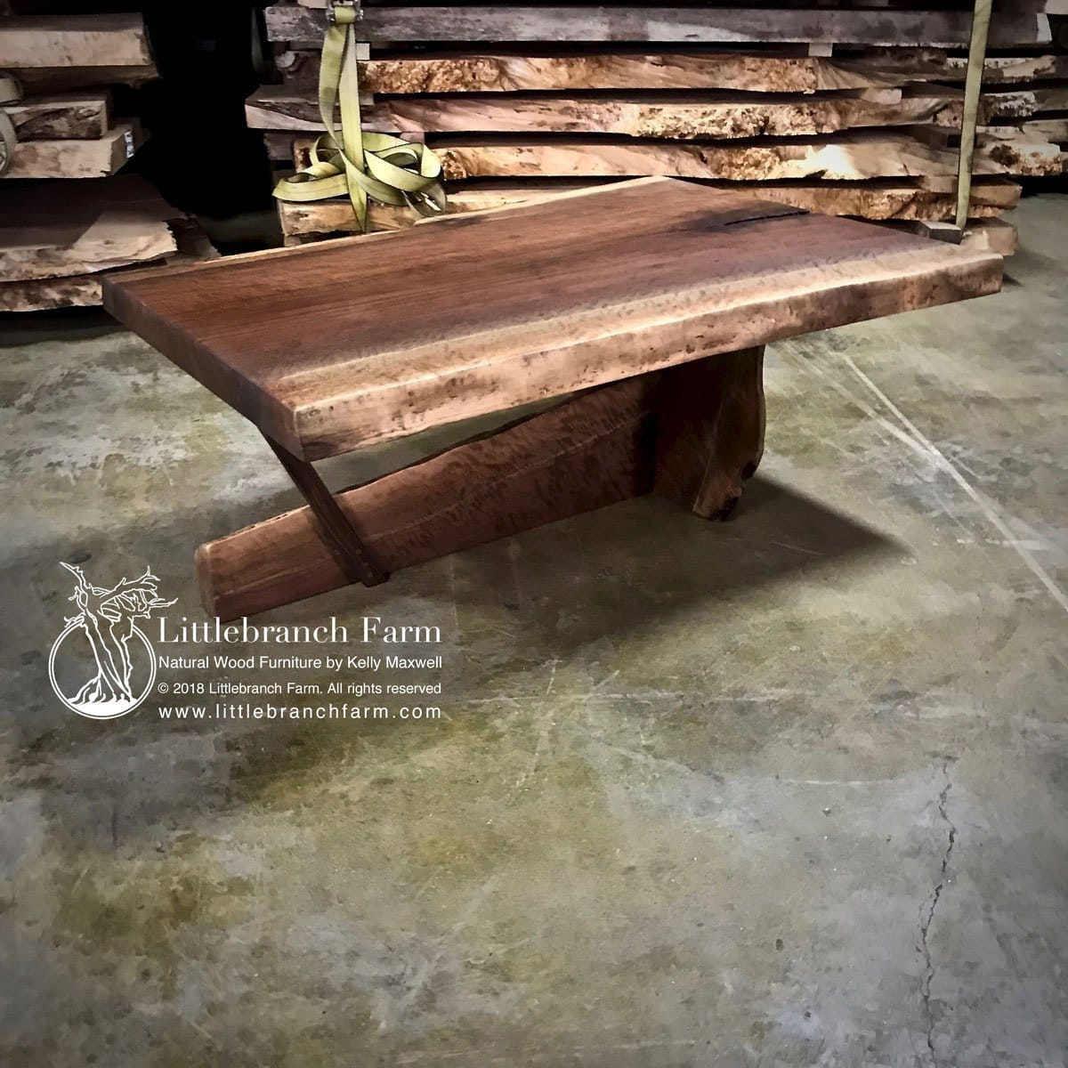 - Natural Wood Slab Coffee Table Littlebranch Farm