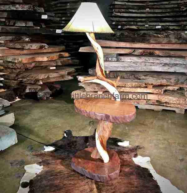 juniper log rustic lighting