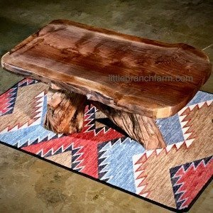 Walnut rustic coffee table