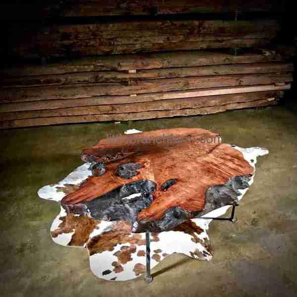 floating wood slab table