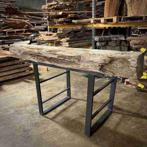 Real wood rustic mantel