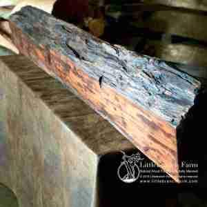 Natural wood rustic mantel