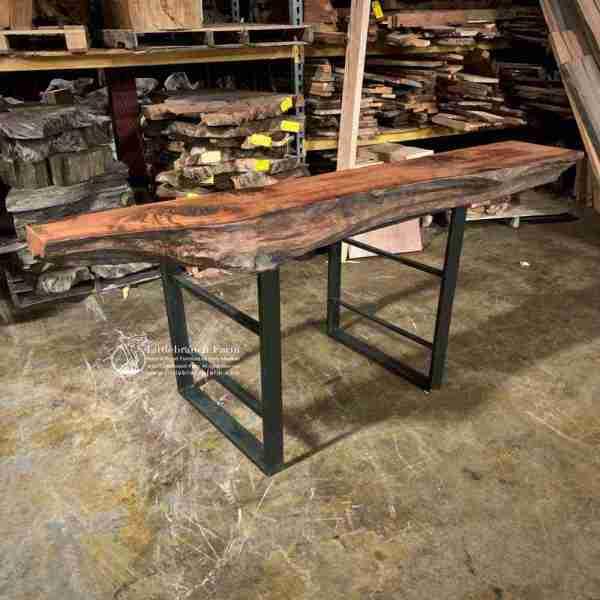 Edge wood rustic mantel