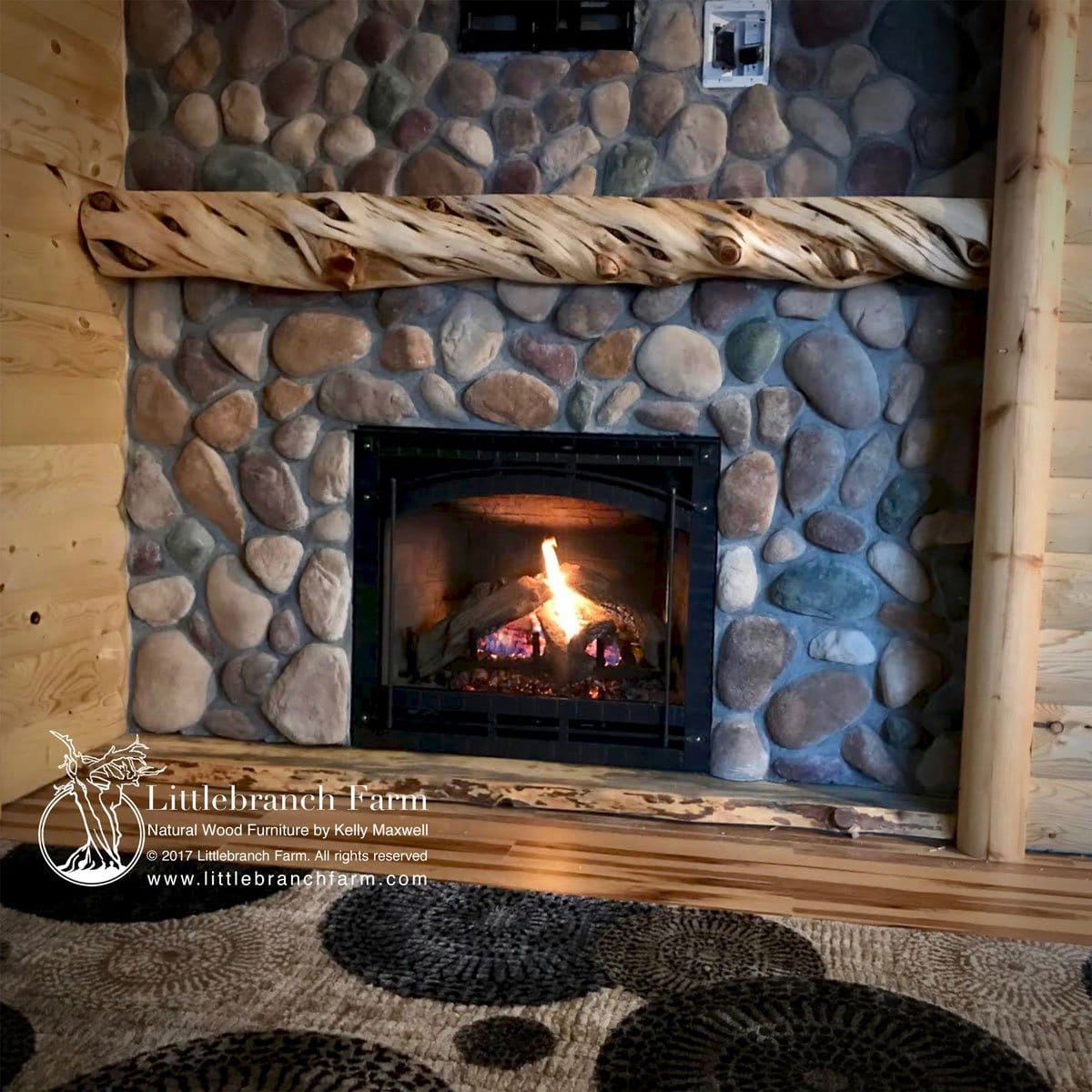 Live Edge Fireplace Mantel - live edge wood | Littlebranch ...