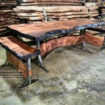 Natural Wood Table Live Edge Wood Rustic Wood Table