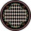 Round farmhouse rug