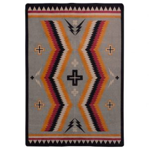 Saddle blanket rug design