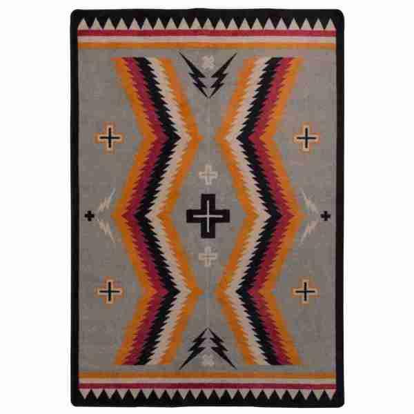 Saddle blanket rug design