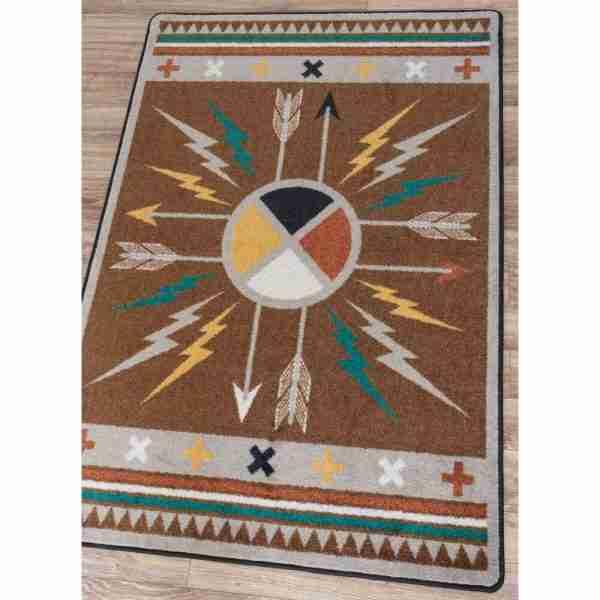 Shield and arrow rug