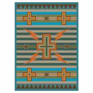 Native lighting bolt rug