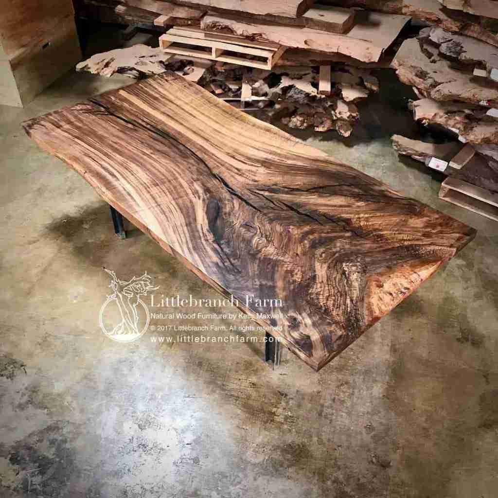 Natural wood live edge Claro walnut