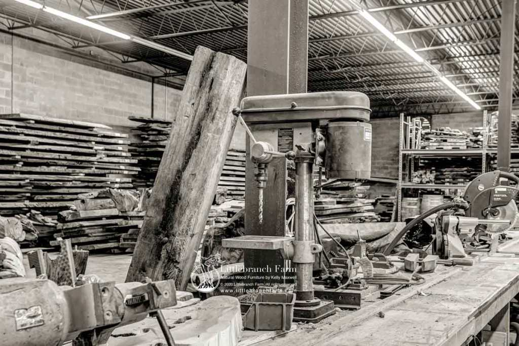 Rustic furniture studio picture.