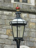 Even the lights have crowns in Windsor Castle!