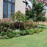 Trim up flower beds.