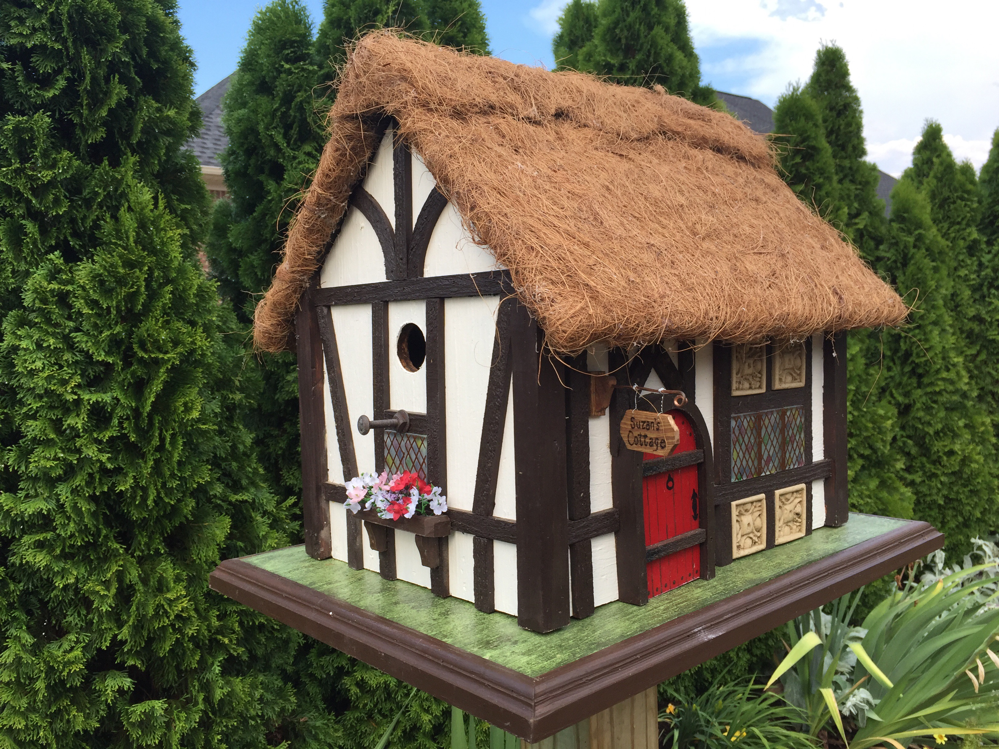 Tudor style bird house little brit more for Bird house styles