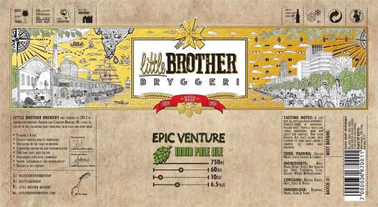 Epic Venture IPA Label