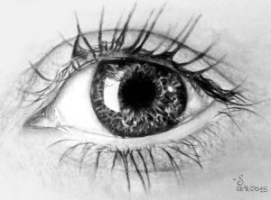 Eye Study 2, Graphite on paper.