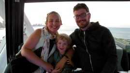 Family shot at the top of the Centennial Wheel.