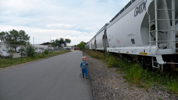 There were many railroad crossings in Madison. Oliver made us stop at every one!