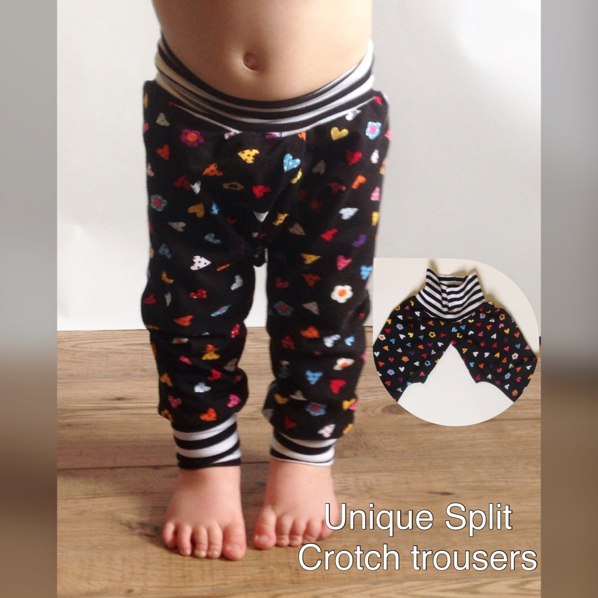 Split crotch baby trousers pants EC Clothing