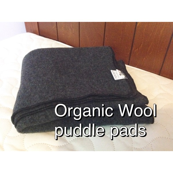 Organic wool puddle pad