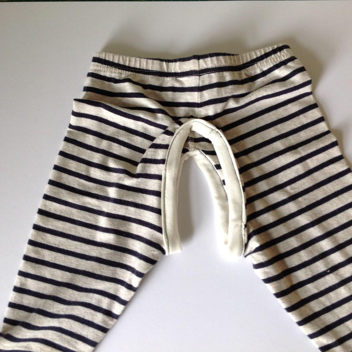 DIY split crotch trousers pants