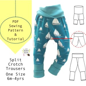 split crotch pants sewing pattern